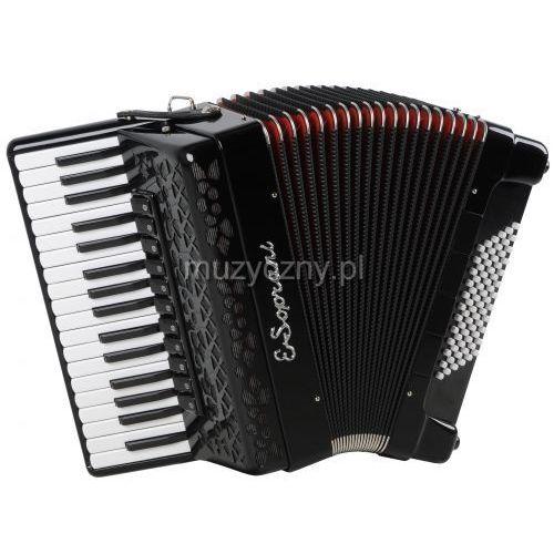 E.soprani  744 kk f 34/4/11 72/4/4 musette akordeon (czarny, czerwony miech)