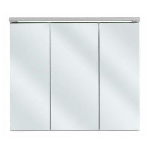 Producent: elior Szafka łazienkowa z lustrem i oświetleniem led - marbella 7x biały 80 cm