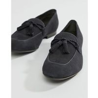 Dune tassel loafers in navy suede - blue