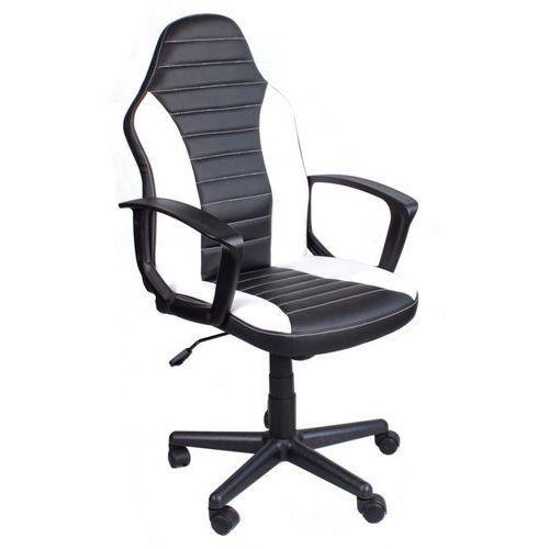 Giosedio Fotel biurowy fbe czarno-biały