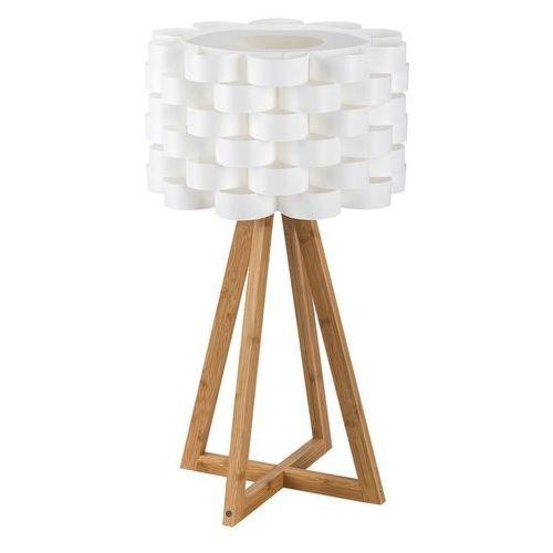 Rabalux Lampa podłogowa andy 4345 lampa stojąca drewniana 1x40w e14 biały