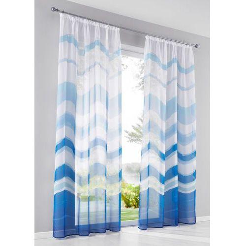 """Firana """"Florenz"""" (1 szt.) bonprix biało-niebieski, kolor niebieski"""
