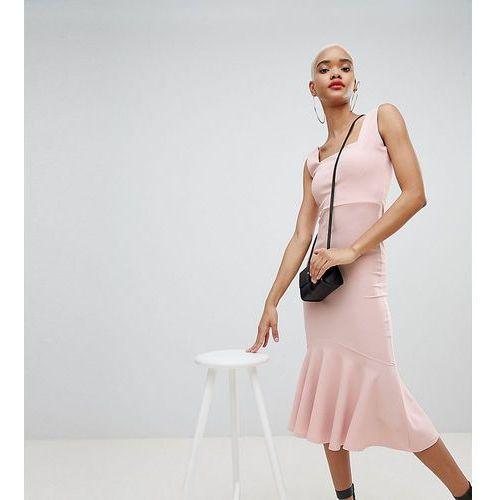 sleeveless fishtail midi dress - pink marki Boohoo