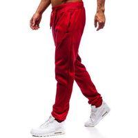 Spodnie męskie dresowe joggery bordowe Denley XW01