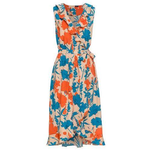 Sukienka koronkowa czarno-beżowy, Bonprix, 34-50