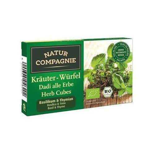 Bulion - kostki ziołowe z bazylią i tymiankiem bio 80 g - marki Natur compagnie