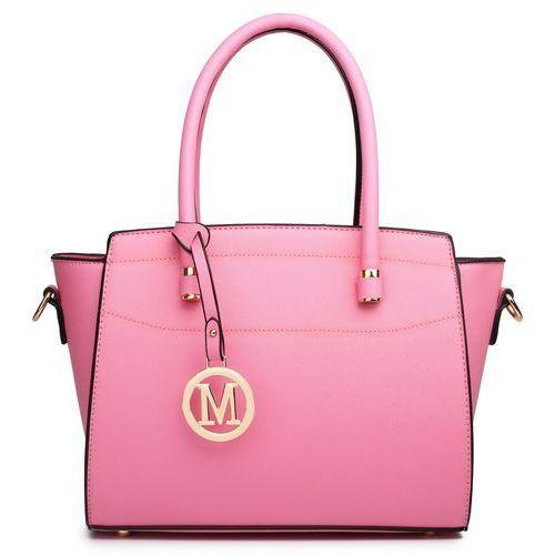 Klasyczna torebka na ramię miss lulu lt1625 różowy, kolor różowy