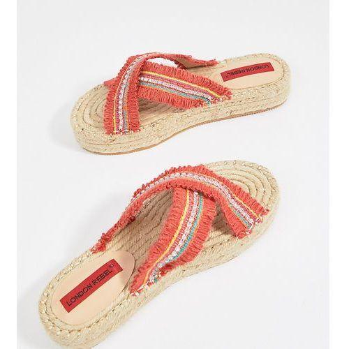 London rebel flatform espadrille sandals - orange
