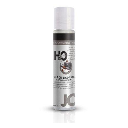 Lubrykant smakowy - System JO H2O Lubricant Black Licorice 30 ml CZARNA LUKRECJA