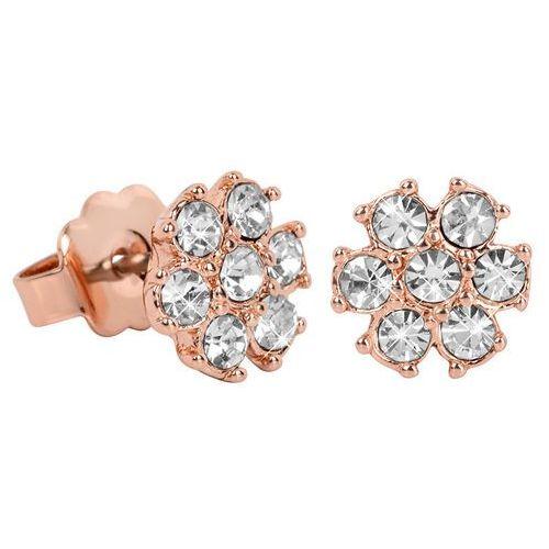 Guess różowe złote kolczyki z crystalami ube21543 (7613332318113)