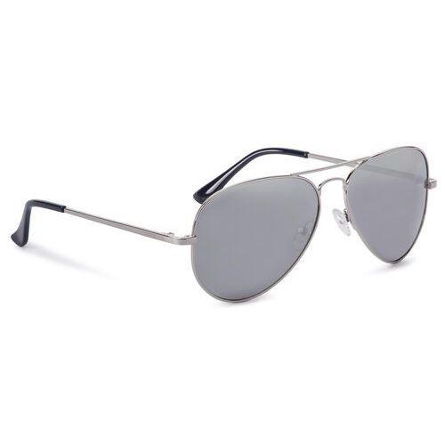 Okulary przeciwsłoneczne BIG STAR - Z74058 Silver/Silver, kolor szary