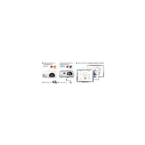 Profesjonalny zestaw interaktywny iBoard 82 DUAL + projektor krótkoogniskowy Epson EB-420 EDU lub NEC M260XS EDU + uchwyt ścienny + kabel VGA 10m