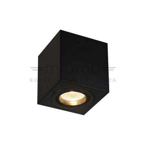 Spot LAMPA sufitowa LAGO nero IP44 Orlicki Design metalowa OPRAWA kostka cube czarna, kolor Czarny
