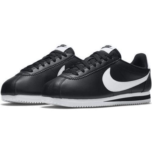 Buty wmns classic cortez leather - 807471-010 - czarny marki Nike