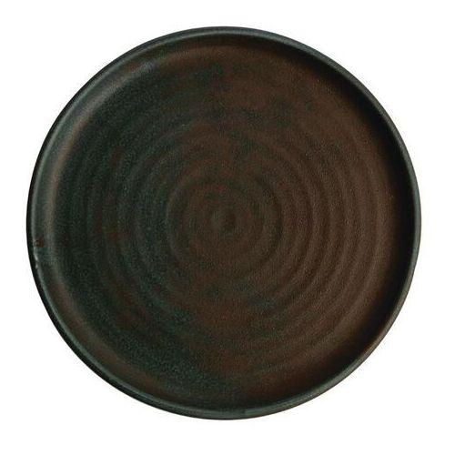 Olympia Okrągły talerz o wąskim brzegu patynowa zieleń 265mm canvas (zestaw 6 sztuk)