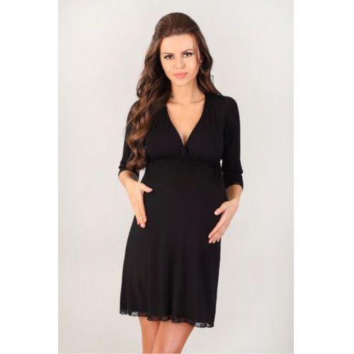 Koszula Ciążowa Model 3024 Black, kolor czarny