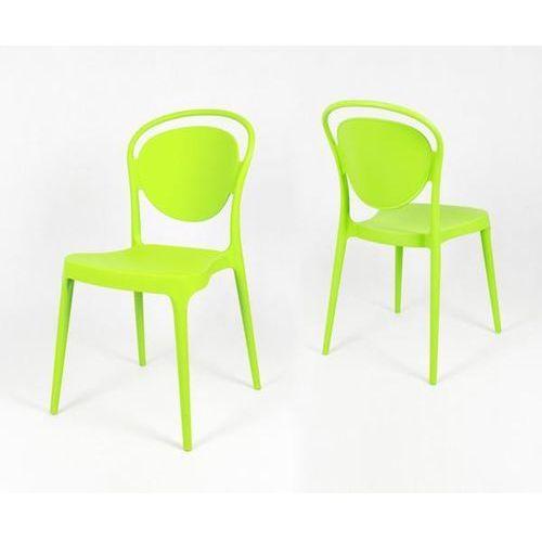 Sk design kr055 zielone krzesło polipropylenowe - zielony