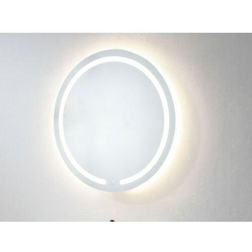 Lustro łazienkowe podświetlane okrągłe ledowy NErEA dł. 60 × wys. 60 cm