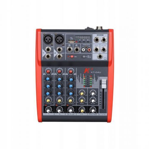 kt-04u mikser analogowy z procesorem efektów i player usb/mp3 marki Karsect