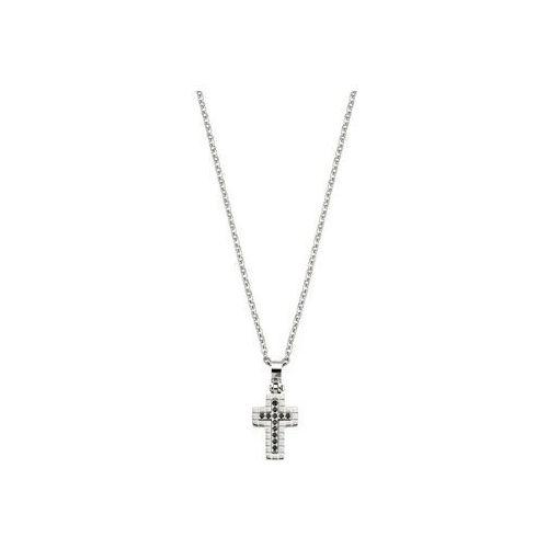 Morellato stal mężczyzn naszyjnik krzyżykiem i kryształy motown saev11