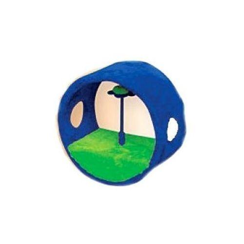 YARRO drapak dla kota Mini-Rolka z Kwiatkiem zielono-niebieska