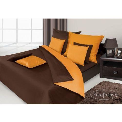 Pościel Satynowa 160x200 Eurofirany Nova Brąz Pomarańcz, kolor pomarańczowy