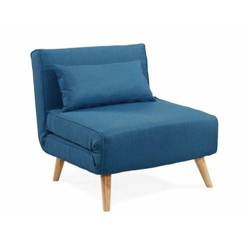 Fotel rozkładany POSIO z tkaniny - Niebieski