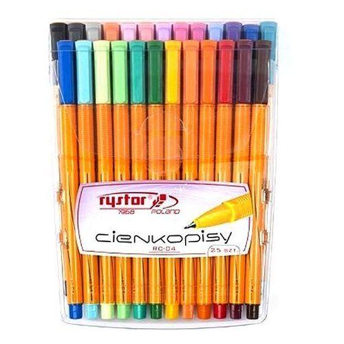 Cienkopisy rc-04 25 kolorów w etui marki Rystor