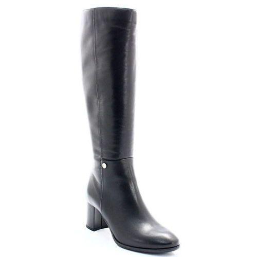 5517 czarne - eleganckie kozaki na stabilnym słupku marki Kotyl