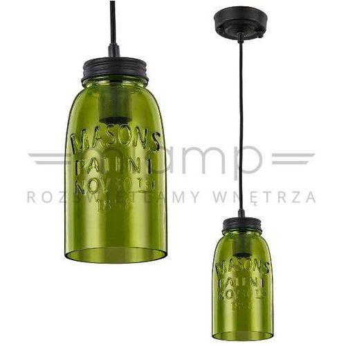 LAMPA wisząca VASTO LP-42086/1P GREEN Light Prestige szklana OPRAWA rustykalna ZWIS zielony