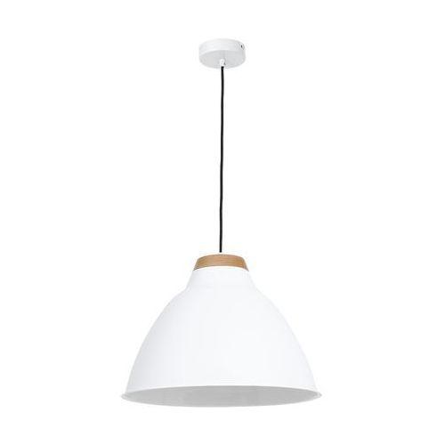 Luminex Lampa wisząca zwis żyrandol skal 1x60w e27 biały 9189 (5907565991895)