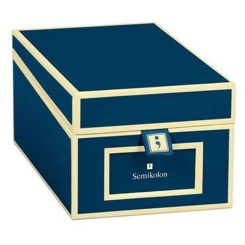 Semikolon Pudełko na wizytówki die kante granatowe (4250053636145)