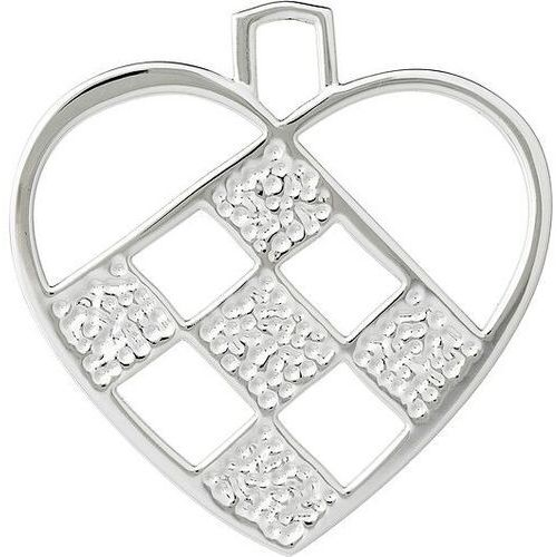 Dekoracja choinkowa karen blixen serce małe srebrna