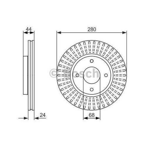 Bosch tarcza hamulcowa; przednia, 0 986 479 737 (4047024887022)