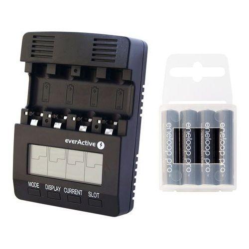 ładowarka everActive NC-3000 + 4x akumulatory Panasonic ENELOOP PRO R03/AAA 950 mAh