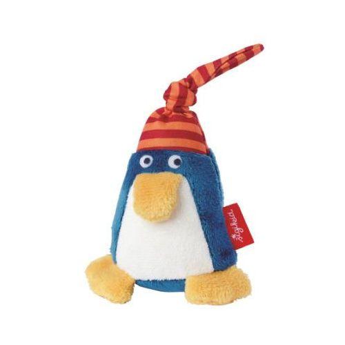 SIGIKID Grzechotka Pingwin z czapką kolo niebieski/czerwony
