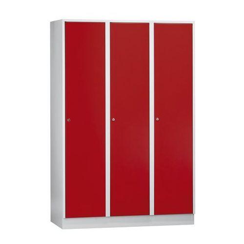 Szafa szatniowa z cokołem, wys. x szer. x gł. 1800x1200x500 mm, 3 półki, czerwon marki Eugen wolf