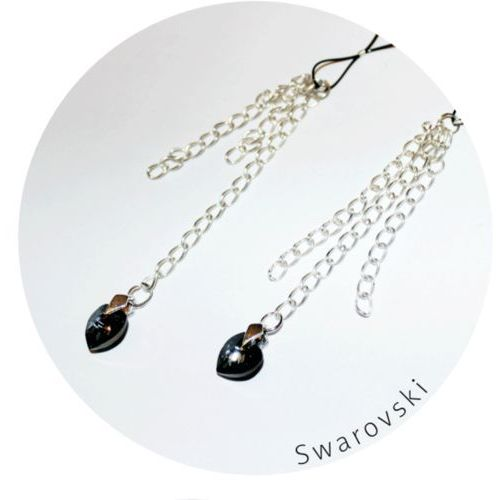 Me Seduce ND001 Nasutniki wiszące z kryształkami Svarowskiego (5901854503219)