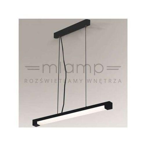 Lampa wisząca sumoto 5564/g5/cz prostokątna oprawa minimalistyczna zwis belka czarna marki Shilo