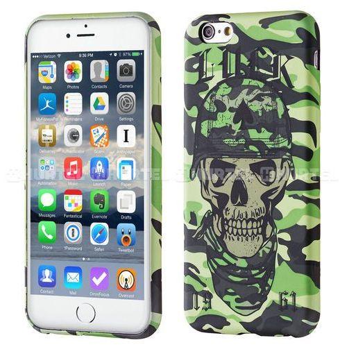 fluorescencyjny pokrowiec świecący w ciemności wild case iphone 7 czaszka zielony - zielona czaszka, marki Wozinsky