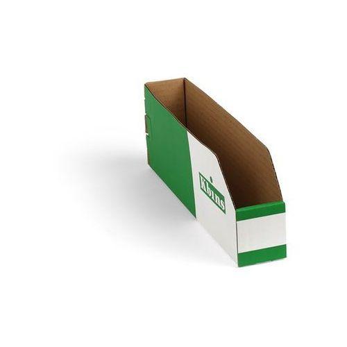 Skrzynki regałowe z kartonu, składane, opak. 150 szt., dł. x szer. x wys. 300x50 marki K bins limited