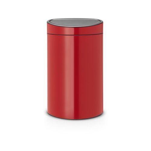 - kosz touch bin 40 l - wiaderko plastikowe - czerwony - czerwony marki Brabantia