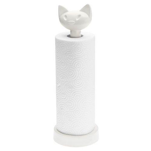 Stojak na ręczniki papierowe 12,8x36,9cm miaou biały kz-5225525 marki Koziol