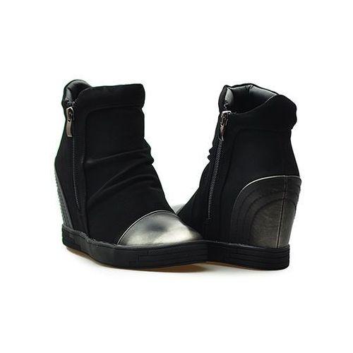 Sergio leone Sneakersy 28875 czarne nubuk
