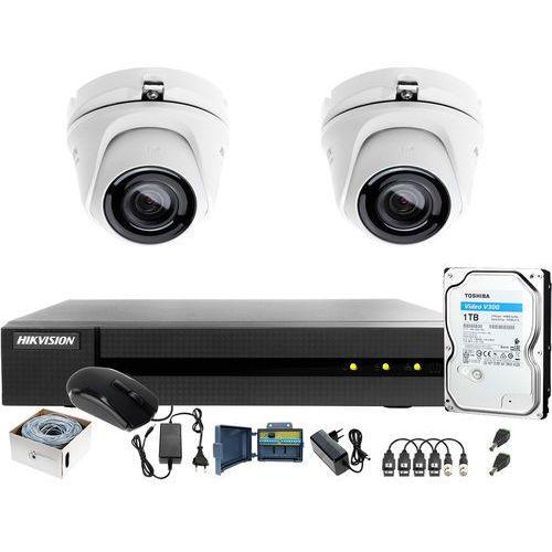 Utp skrętka monitoring 4mpx hwd-6104mh-g2 2 x hwt-t140-m 1tb samodzielny montaż marki Hikvision hiwatch