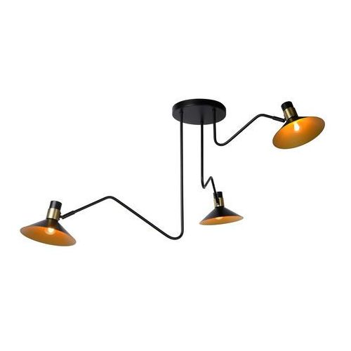 pepijn 05128/03/30 plafon lampa sufitowa 3x40w e14 czarny marki Lucide