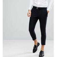 Noak Tapered Suit Trouser In Stripe - Navy