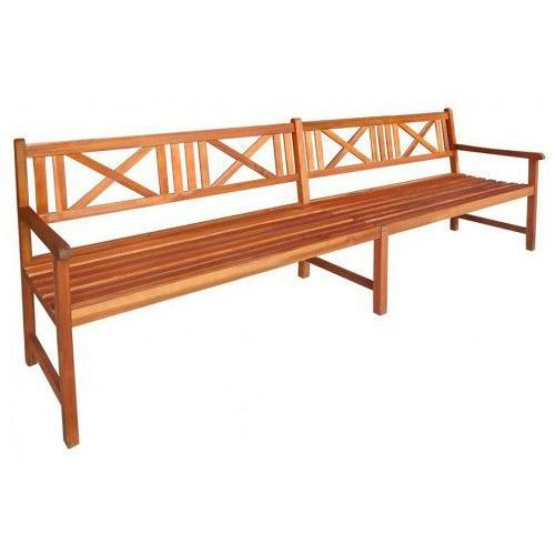 Drewniana ławka ogrodowa Fraset - brązowa, vidaxl_42593