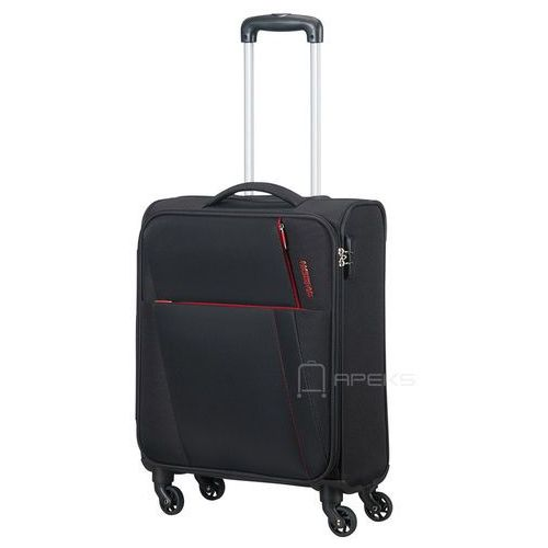 joyride mała walizka kabinowa 20/55 cm / czarna - obsidian black marki American tourister