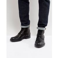 marly leather chunky boots with warm lining in black - black, Jack & jones